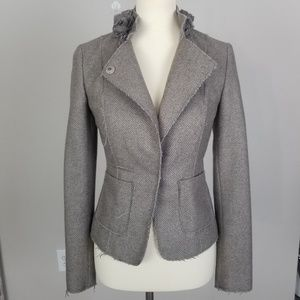 Banana Republic Italian Wool Floral Raw Hem Blazer